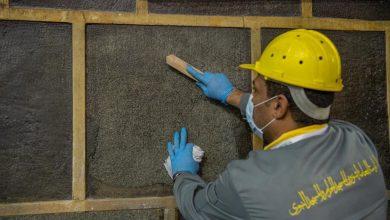 صورة الإدارة العامة للتشغيل والصيانة تنهي أعمال الصيانة الدورية للكعبة المشرفة