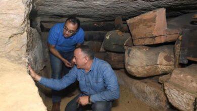 صورة مدبولي يعرب عن سعادته بالإكتشاف الآثري الجديد بسقارة …ويؤكد الحضارة المصرية القديمة مبهرة