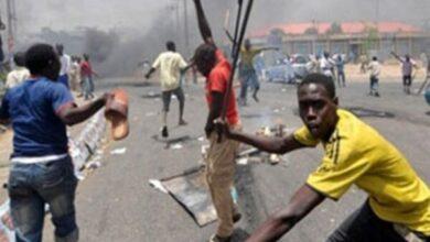 صورة نيجيريا … مظاهرات معارضة وأعمال عنف وحظر للتجول