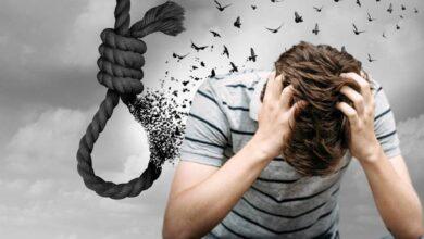صورة على بوابة الانتحار