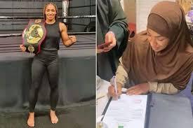 """صورة إعتناق بطلة الملاكمة الهولندية """"روبي ميسو"""" الملقبة بـ """"السيدة تايسون"""" الإسلام"""