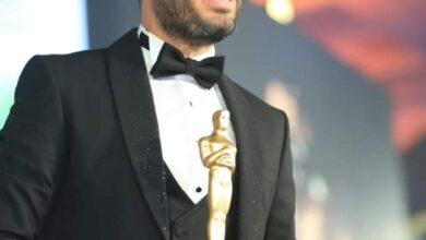 """صورة تكريم الفنان """" رامي جمال"""" في مهرجان نجم العرب عن جائزة أفضل فنان شامل وافضل فيديو كليب"""