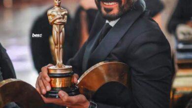 """صورة تكريم الفنان """"خالد النبوي"""" في حفل نجم العرب عن مسلسل مماليك النار ولما كنا صغيرين"""