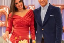 صورة شاهد كيف احتفلت ياسمين صبري بعيد ميلادها مع أبو هشيمة