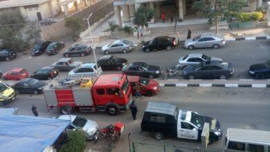 """صورة حريق بمطعم تحت عمارة سكنية بمدينه نصر كاد يُدمر عشرة طوابق """"والسبب إهمال العامل"""""""
